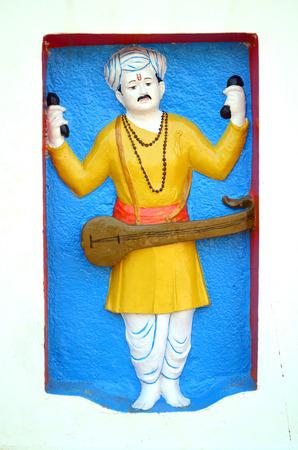 pune: sculpture of sant tukaram  Ramdarya, Pune, Maharashtra, India