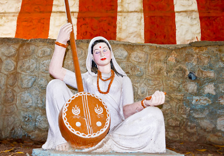 plaster of paris: Saint Mirabai sculpture,Poona,Maharashtra,India