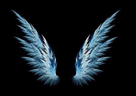 alas de angel: Alas de �ngel azul con dise�o fractal