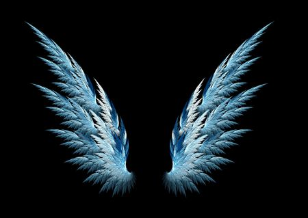 angel: Blue angel wings made with fractal design
