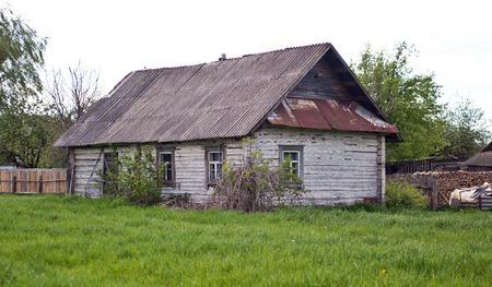 Old wooden village vintage house
