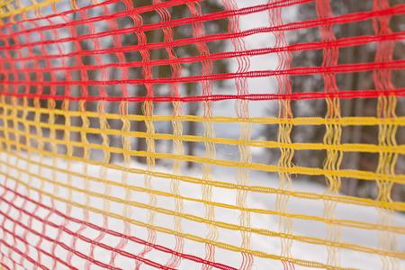 netting: Protective netting on ski trail