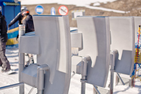 turnstile: Turnstile at the ski resort.