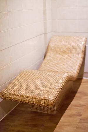 ergonomic: Ergonomic  lounger  with heated Stock Photo
