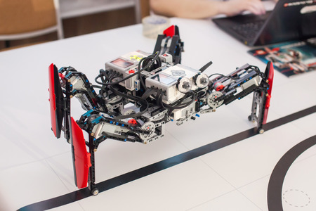 Black plastic mechanical robot spider.
