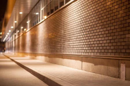 The night architectural abstraction with bokeh.