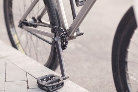 mtb: Close-up photo of bicycle chain. Stock Photo