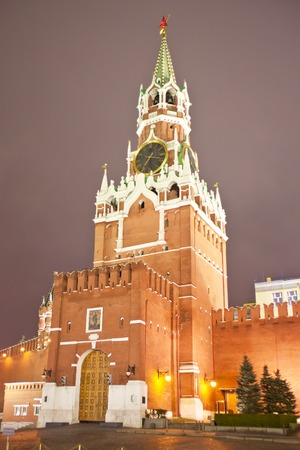 spasskaya: Spasskaya Tower of the Moscow Kremlin. Russia.