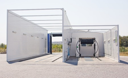 automatic: Modern automatic carwash alfresco.