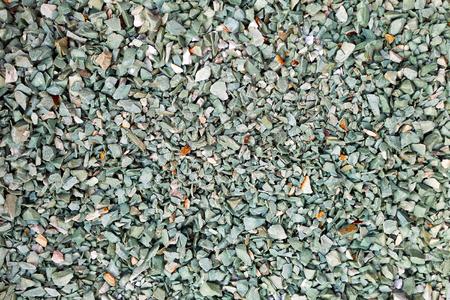 Green gravel stone floor texture background