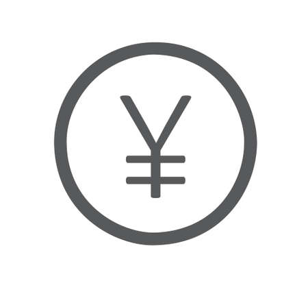Yuan flat icon isolated on white background
