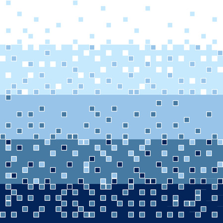 Abstract square blue mosaic background
