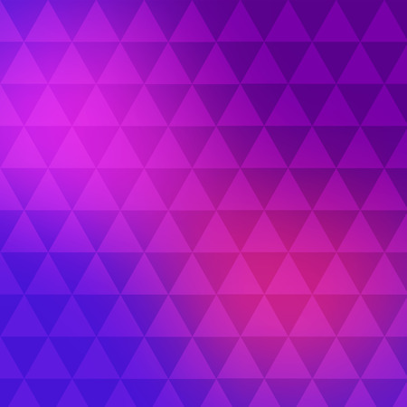 parallelepiped: Vector of geometric shapes. Color mosaic banner. Triangle background