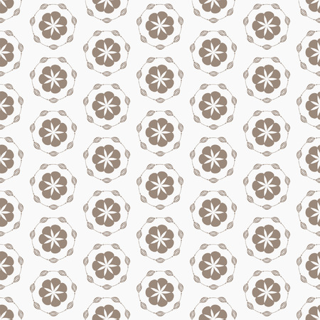 muted: Light floral vintage seamless pattern for retro wallpapers. Vector illustration.