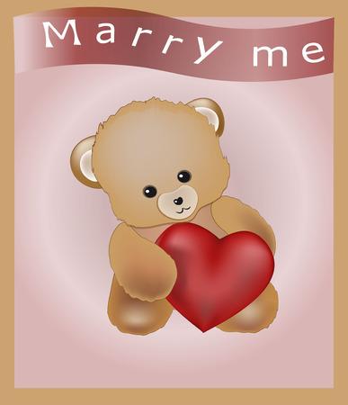 te quiero: encantador oso de peluche con el corazón rojo