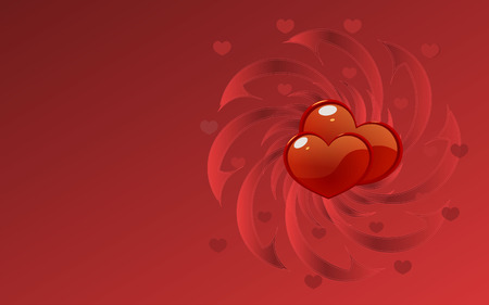 whirlpool: red background with the shining hearts and whirlpool for desktop Illustration
