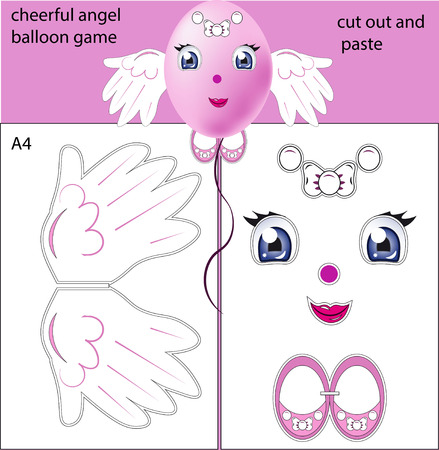 dettagli: lovely angel, made of a balloon, pasting details