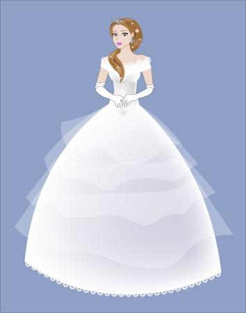 young beautiful woman in a white wedding dress