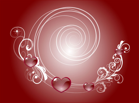 crystal heart: red heart a background with crystal red heart Illustration