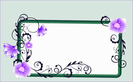 the frame decorated with flowers and deciduous patterns
