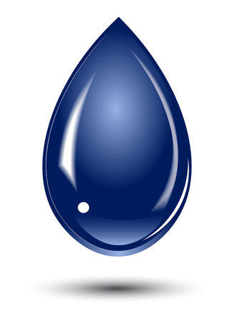 blue water: drop of fresh, cool, brilliant, transparent water