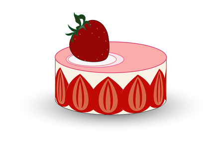 creme: An incredibly pretty French cake filled with delicious strawberries and creme