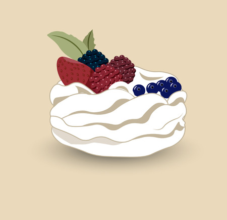 Pavlova is a meringue-based dessert with a fresh berries, named after the Russian ballerina Anna Pavlova.