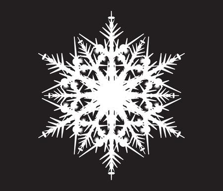 white snowflake on a black background Illustration