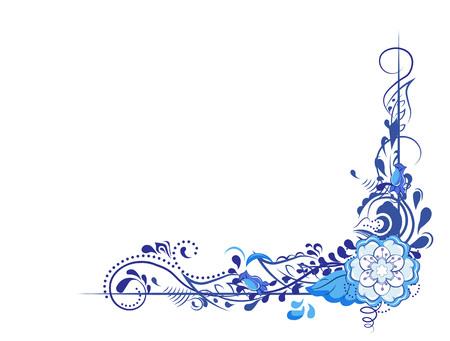 Beautiful flower stylization of monograms, vegetable pattern, rose