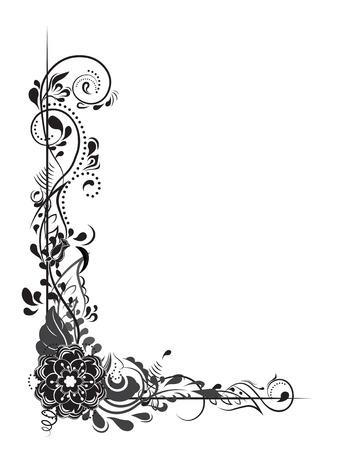 Bordure de coin belle fleur. Banque d'images - 81714921