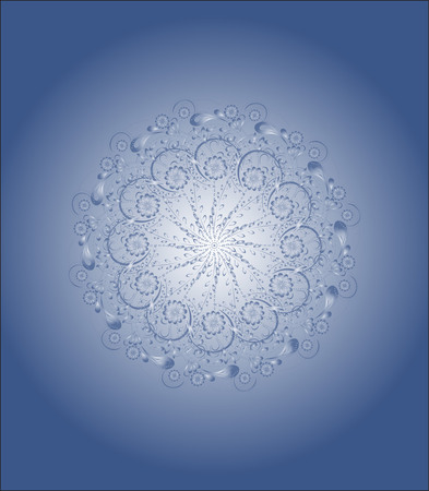 beautiful water pattern, the droplet on a blue background