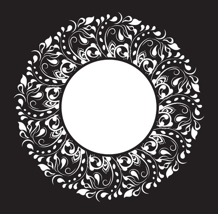 beautiful flower pattern, the flower circle frame, background