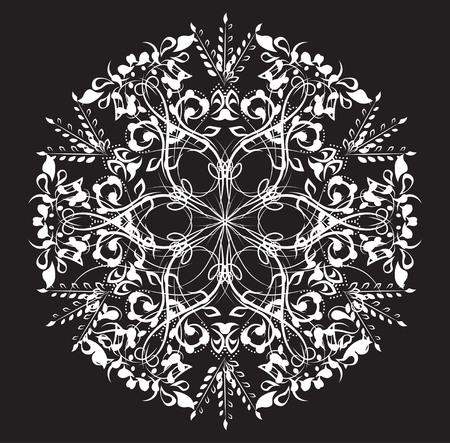 thirsty: beautiful flower pattern, the flower circle, background mandala Illustration