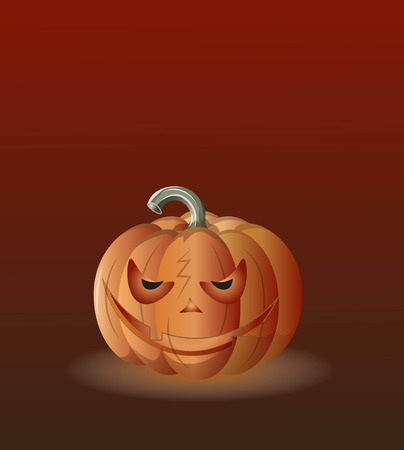 angry laughing orange pumpkin, Halloween picture