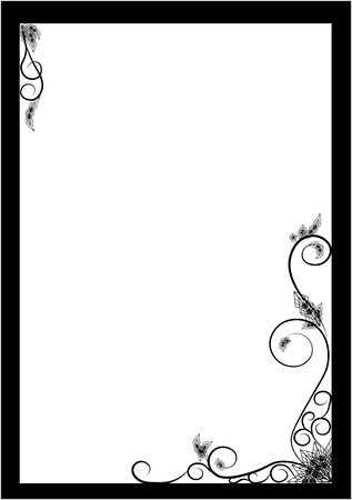festive card background, gothic style card Vector illustration.