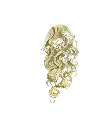 Gouden krullen van het haar krullen, de blonde