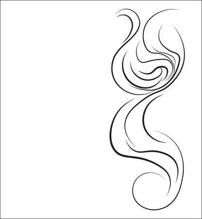 Pictogram voor kapsalon, de kapper - een abstracte lok van haar, een achtergrond. Stock Illustratie