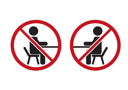 Vector pictogram, human figures that forbid sitting on a chair