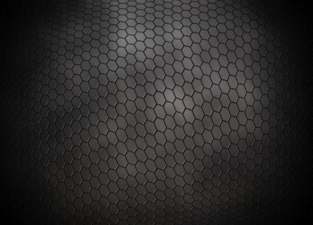 grey hexagons grid background photo