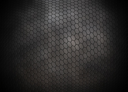 aluminium wallpaper: grey hexagons grid background