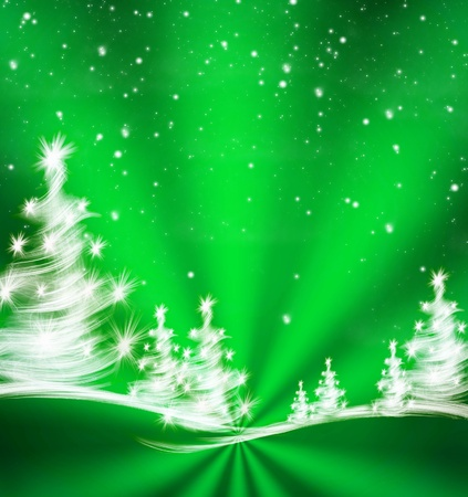 christmas background with trees  Banque d'images