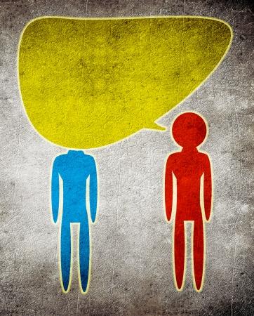 too much talking concept illustration Stock Illustration - 24221593