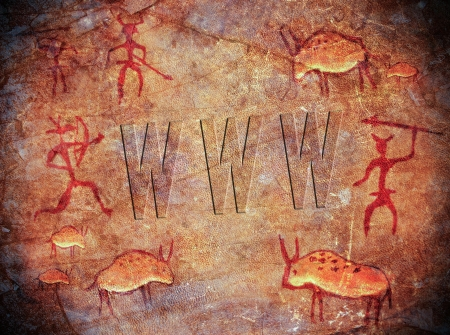 prehistoric world wide web cave paint photo
