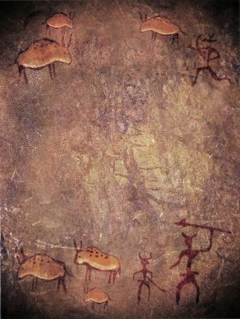 prehistoryczne malowanie cyfrowych ilustracji