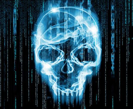 virus informatico: hackers concepto de ilustración digital de Foto de archivo