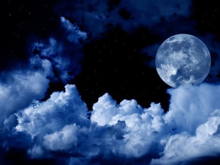 pe?ni ksi??yca z chmury i gwiazdy