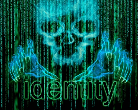 identity theft: identity theft concept illustration