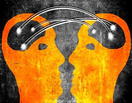 brain storming concept illustration Zdjęcie Seryjne