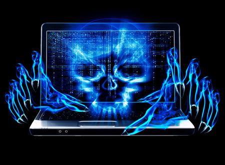 hacker: hacker attack concept