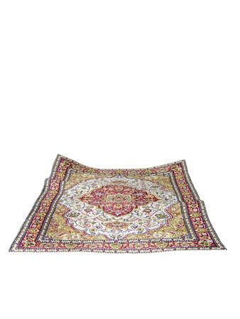 wool rugs: turkish carpet isolated on white background